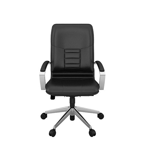 fauteuil de bureau bruneau cuir classique mod le direction dossier 63 cm. Black Bedroom Furniture Sets. Home Design Ideas