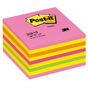 Kubusblok neon Post-it 76 x 76 mm roze - blok van 450 vellen