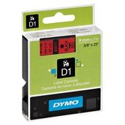 Ruban polyester Dymo D1 9 mm S0720720 rouge écriture noire