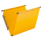 Suspension file for cabinets polypropylene 5/10 bottom 30 mm - yellow