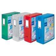 Boîte de classement plastique Viquel personnalisable dos 10 cm incolore