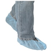 Pack of 100 blue shoe covers non-skid