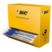 Doos 90 balpennen Bic M10 inklikbaar blauw + 10 gratis