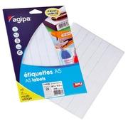 Doos 448 zelfklevende etiketten Agipa 114036 wit 18,5 x 48,5 mm laser en inkjet
