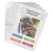 Box 100 sleeves, transparent, Bruneau A4 polypropylene 7,5/100