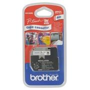 Gemetalliseerd lint 9 mm voor Brother PT wit print blauw