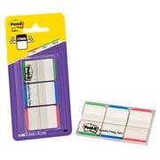 Marque-pages strong couleurs liseré classique Post-It - distributeur de 66 feuilles