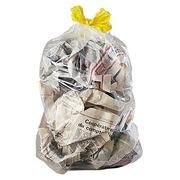 Sac poubelle 30 litres à liens coulissants transparent - 100 sacs
