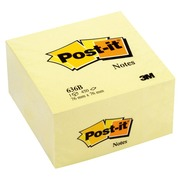Post-it kubusblok kanariegeel 76 x 76 mm