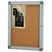 Schaukasten für Innen, 4 Blatt, Korkwand mit Aluminiumrahmen