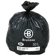 Sac poubelle gris 50 litres NF Bruneau - Colis de 500