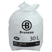 Weiße Müllsäcke NF Bruneau, 30 l