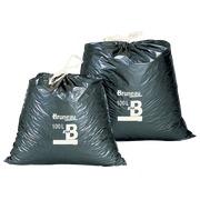 Sac poubelle gris à liens coulissants Bruneau 100 litres - Colis de 100