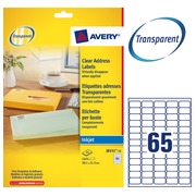Package of 1625 address labels Avery J 8551 38,1 x 21,2 mm for inkjet printer