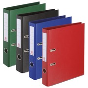 Lever arch files assorted, classic colours back 5 cm