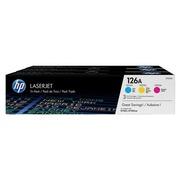 HP 126A - CF341A Pack de 3 toners couleurs pour imprimante laser