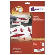 Chevalet porte-nom Avery papier 45 x 120 mm - Boîte de 40