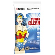 Lingettes Emtec Power Clean Wonderwoman- paquet de 50