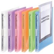 Ringbuch aus Plastik mit 4 Ringen Viquel A4 personalisierbar - Rücken 2,5 cm - Farbig sortiert