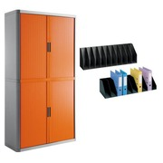 Pack armoire Easy Office orange avec 2 trieurs verticaux offerts