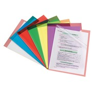 Box, 100 plastic sleeves Bruneau, transparent green, PVC 20/100