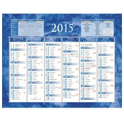 Calendrier semestriel mural année 2020 - 13,5 x 17,5 cm