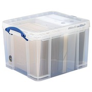 Plastic storage box 35 L Really Useful Box uncoloured