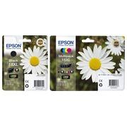 Epson big pack 18XL 1 Tintenpatrone schwarz + 1 Multipack schwarz + Farben hohe Kapazität für Tintenstrahldrucker
