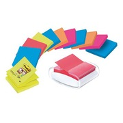 Pak verdeler + 12 gekleurde Z-Notes Super Sticky Post-it
