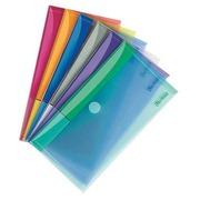 Chemise de présentation à velcro Tarifold 13,5 x 25 cm couleurs assorties - Paquet de 6