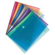 Chemise de présentation à velcro Tarifold 24 x 31,6 cm couleurs assorties - Paquet de 12