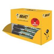 Pack 20 + 4 permanente markers Bic Onyx schuine punt zwart 4 tot 7,5 mm