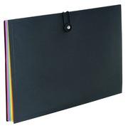 Trieur plastique Viquel Rainbow à soufflet 8 divisions noir