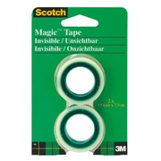 Blister von 2 Rollen Scotch Magic Invisible Klebeband mit kleinem Abroller 7 ,5 m