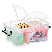 Storage box plastic 12 L Strata transparent