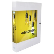 Personalizable box folder in plastic Elba 24 x 32 cm back 4 cm colorless