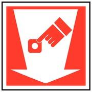 Panneaux rectangulaires, en forme de coin « alarme incendie » (PFTC3 412)