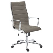 Bürostuhl Milano Leder - Rücken H 60 cm