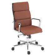 Stoel Milano leather Premium bruin - Rug H 60 cm
