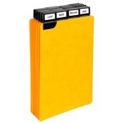 Paquet de 25 guides alphabétiques en carte à onglets métalliques, pour fiches 125x75mm.