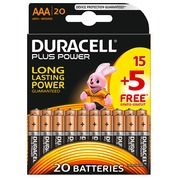 Blister van 15 batterijen + 5 gratis LR03 Duracell Plus Power