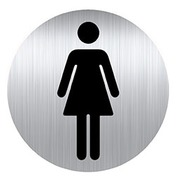 Self-adhesive pictogram Ø 8 cm «toilet woman