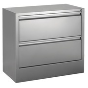 Lateral File Cabinet 2 Drawers W 80 cm