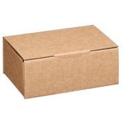 Bruine verzenddoos in enkelgelaagd karton H 10 x B 15 x D 25 cm