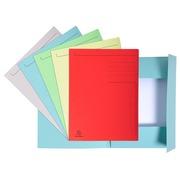 Packung mit 50 Aktenmappen mit Beschriftungsfeld und 3 Klappen aus Karton 280g Forever, für Format DIN A4.