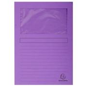 FOREVER® Pak van 100 venstermappen 120g/m2 - 22x31cm voor A4 - Lila