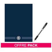 Pack 10 notepads Manager A4 + 5 roller pens Bruneau point 0,7 mm for free