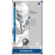 Staedtler Crayon Mars Lumograph 12 pièces: 6B-5B-4B-3B-2B-B-HB-F-H-2H-3H-4H