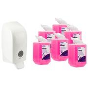 Pack 6 cartouches savon Kleenex + 1 distributeur offert