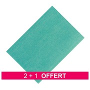 Pack promo 2 paquets 25 lavette Niconet synthétique Vert = 1 offert
